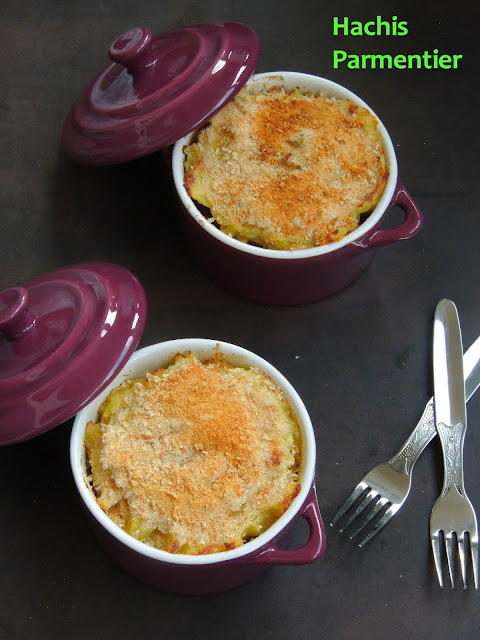 Hachis Parmentier with vegetable and kidney beans
