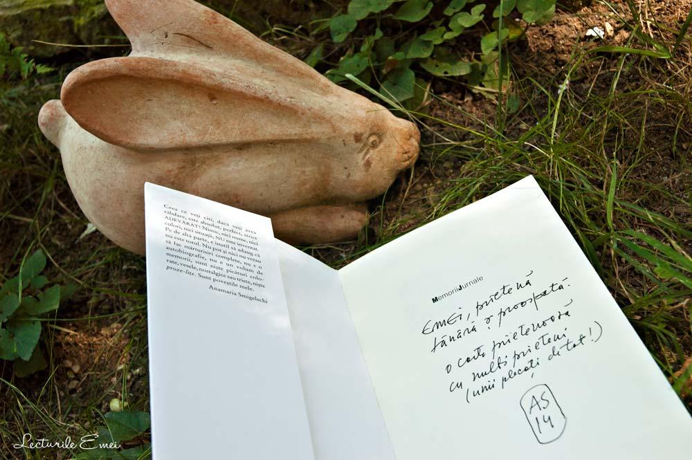 autograf Anamaria Smigelschi pe Gustul, mirosul și amintirea