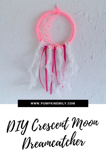 DIY Crescent Moon Dreamcatcher