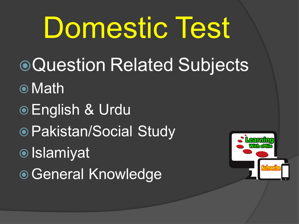 Pakistan Army Written Test - Domestic Test Questions for Joining Pak