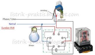 Modifikasi instalasi fotocell tanpa drop tegangan ke lampu
