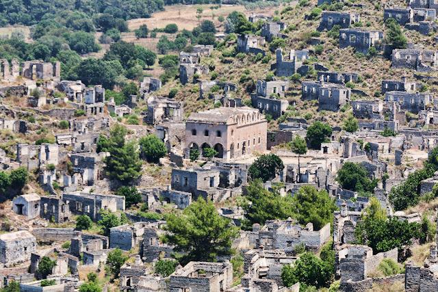 Historic Greek village in SW Turkey left to decay
