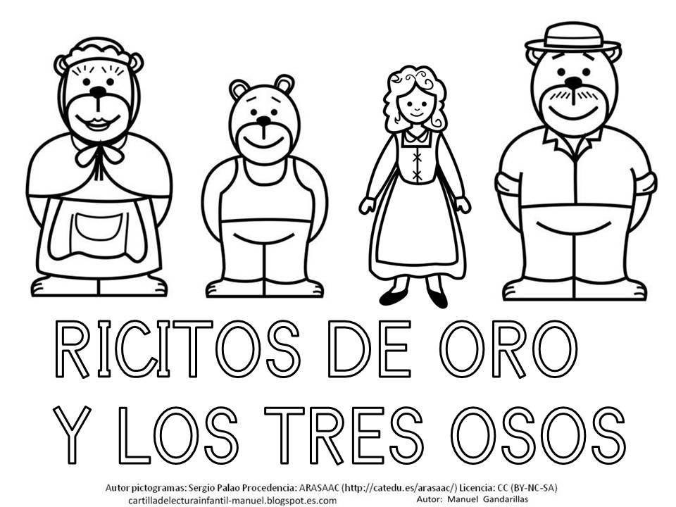 CARTILLA DE LECTURA INFANTIL : RICITOS DE ORO.PÓSTER