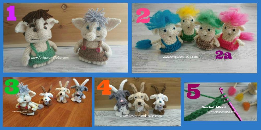 Amigurumi Crochet Pattern - Gordy the Goat | Crochet patterns ... | 500x1000
