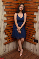 Radhika Mehrotra in a Deep neck Sleeveless Blue Dress at Mirchi Music Awards South 2017 ~  Exclusive Celebrities Galleries 010.jpg