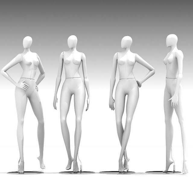 3dsMax高精度女性模特人體3D模型下載