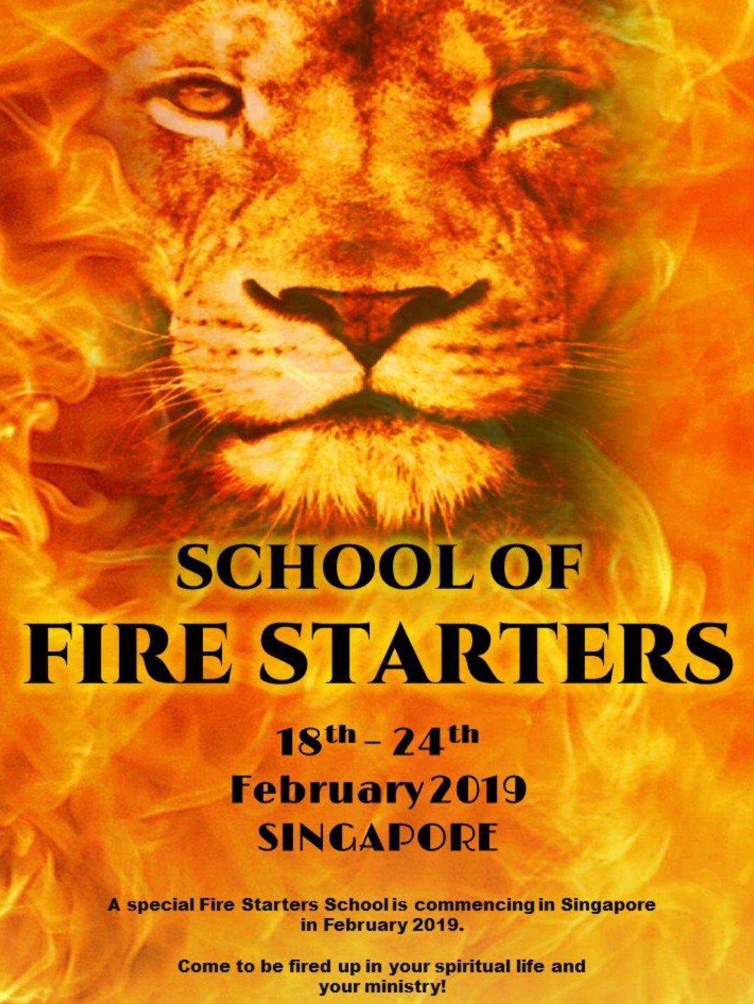 Name of our new Bible School - School of Fire Starters