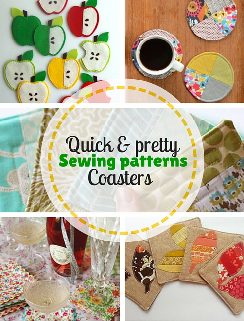 Quick & pretty crochet: 5 free sewing patterns, coasters | Happy in Red