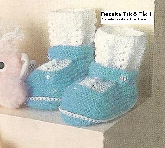 Sapatinho Bebê em tricô lindo!