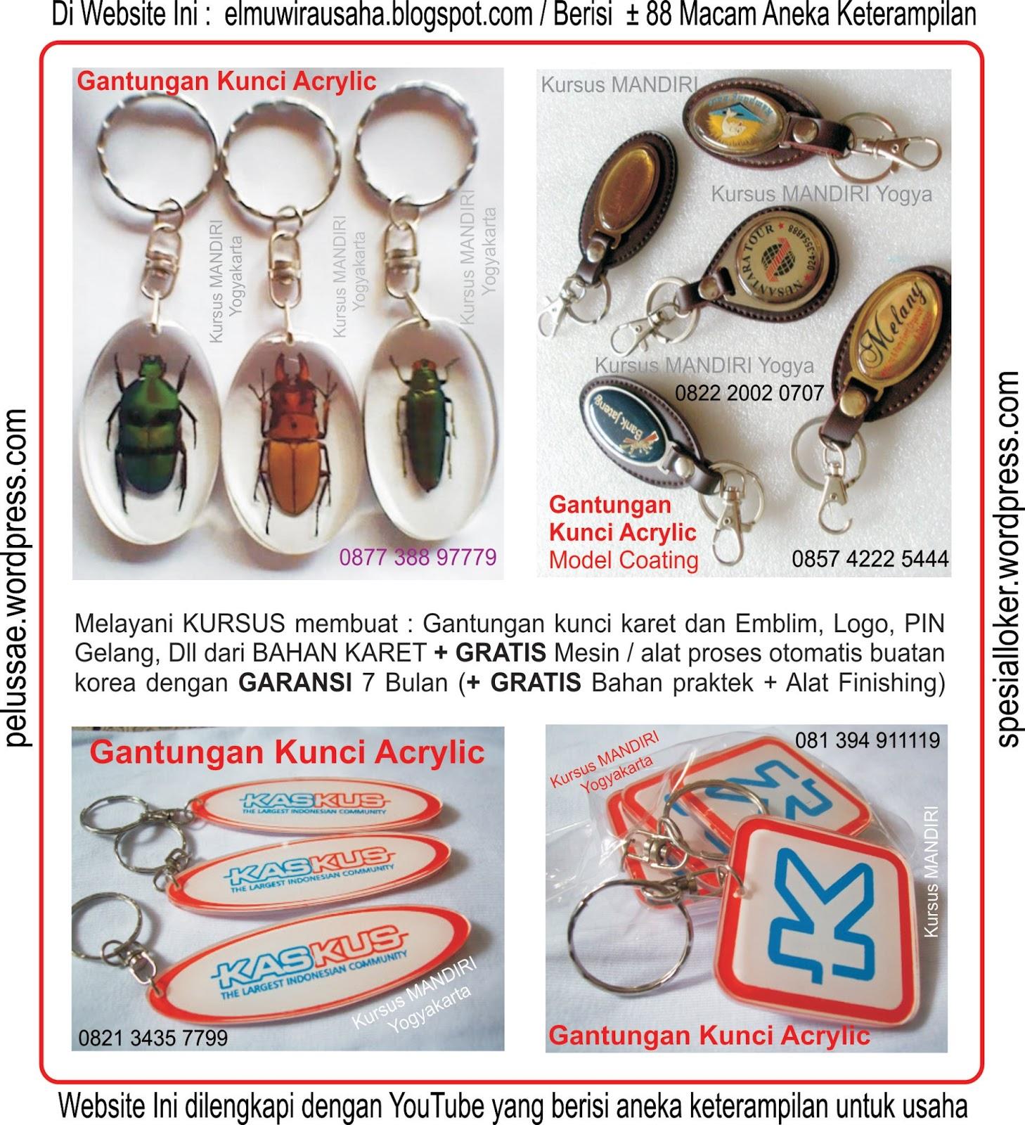 Gantungan Kunci Karet, Sablon Kaos Dan Gelas, Percetakan