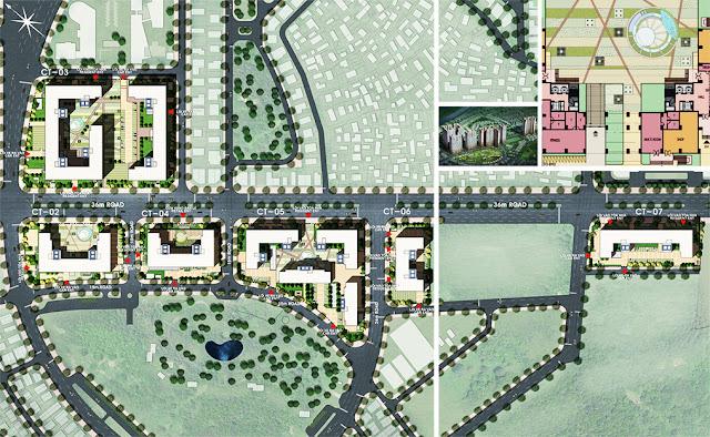 Mặt bằng quy hoạch toàn khu Booyoung Vina