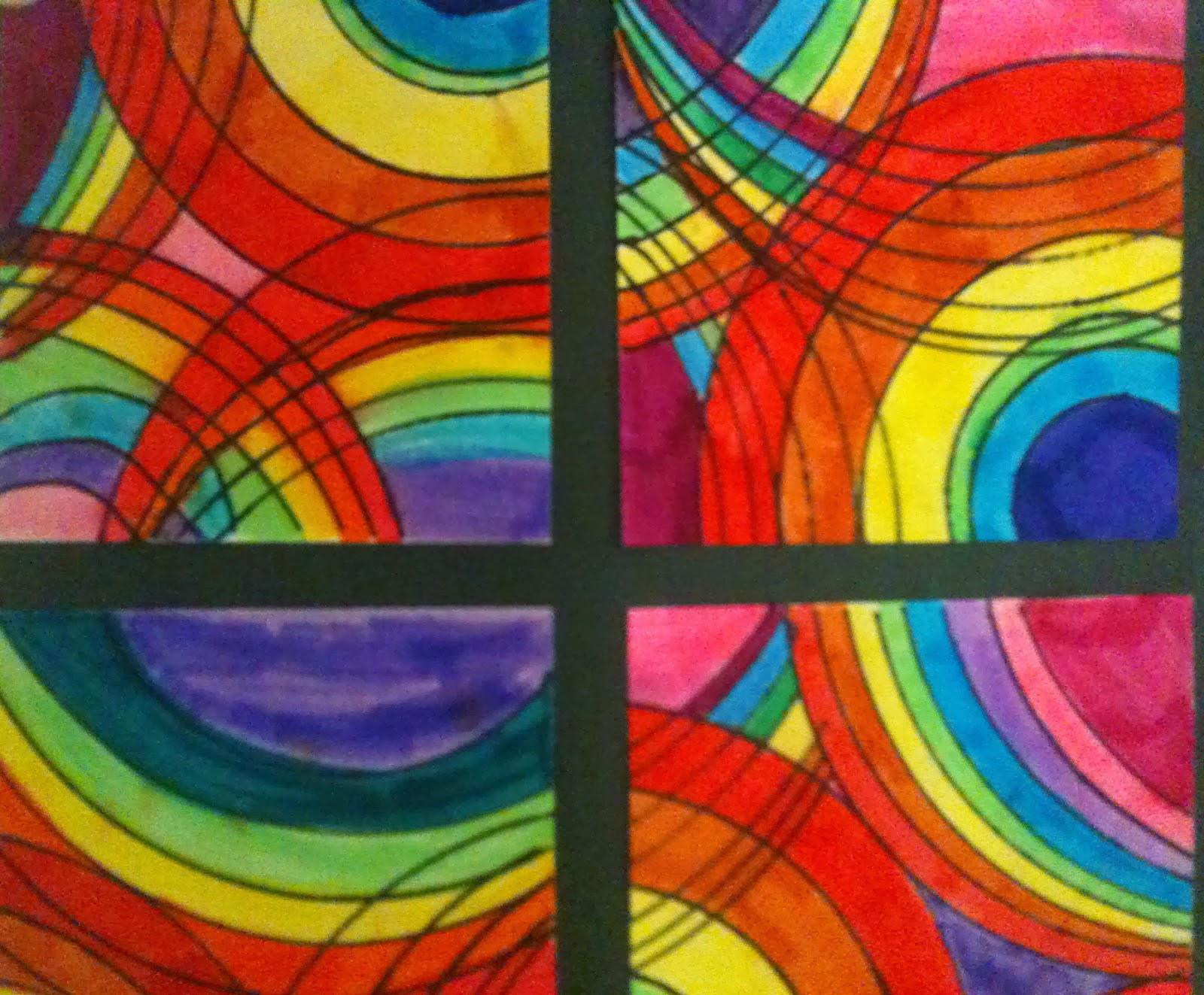 Art Room Blog 2nd Grade Circle Spin And Frank Stella