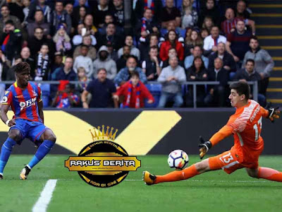 Wilfried Zaha Membobol Gawang Courtois Skor: 2-1