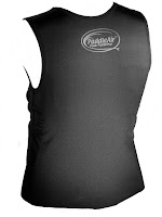 The Rib Rocket Lycra/Neoprene Black Vest, Back