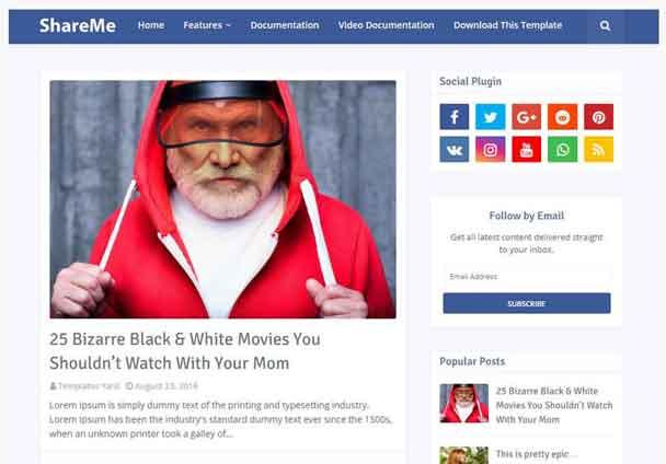 ShareMe Blogger Template