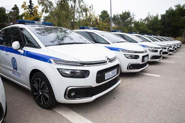 49 νέα υπηρεσιακά οχήματα παρέλαβε σήμερα η Ελληνική Αστυνομία