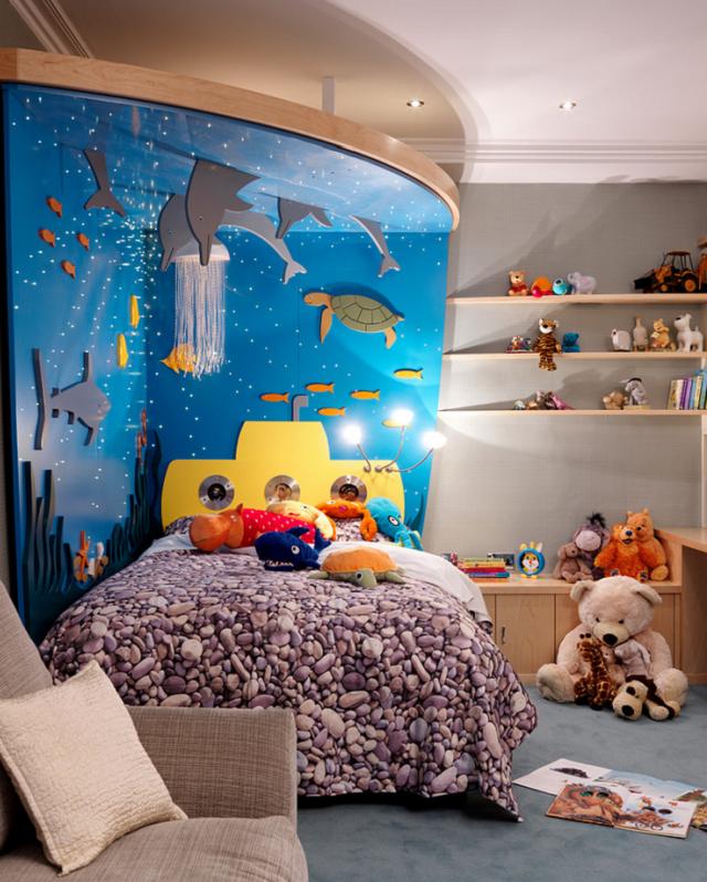 Dormitorios infantiles tem ticos bajo el mar for Dormitorio animado
