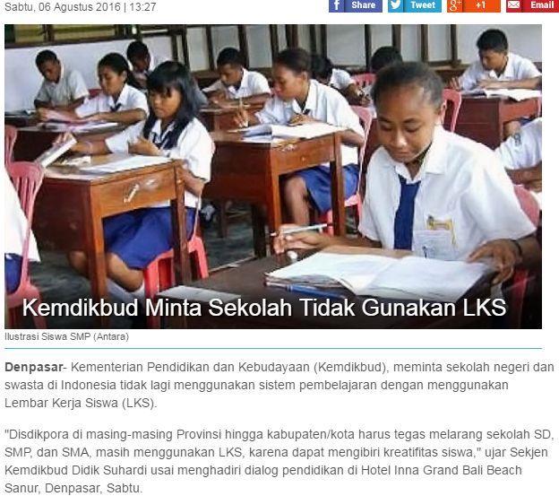 gambar larangan penggunaan LKS di sekolah