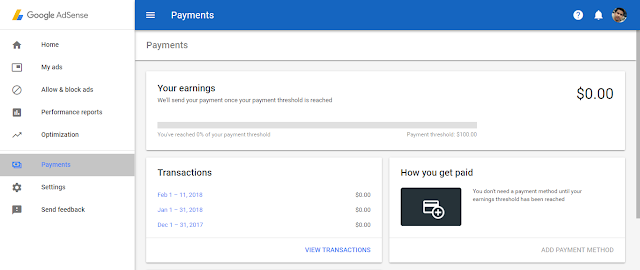 Receiving your adsense  payments  via EFT (Electronic Funds Transfer