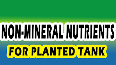 non mineral nutrients for planted tank