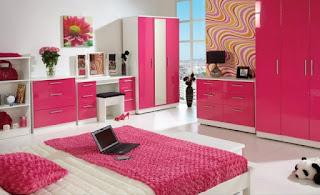 Desain Kamar Anak Cat Warna Pink