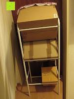 hinten: Stabiler Kistenständer Kastenregal Falschenregal Kastenständer (3 Kasten)