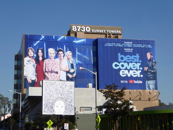 Giant Best Cover Ever YouTube billboard