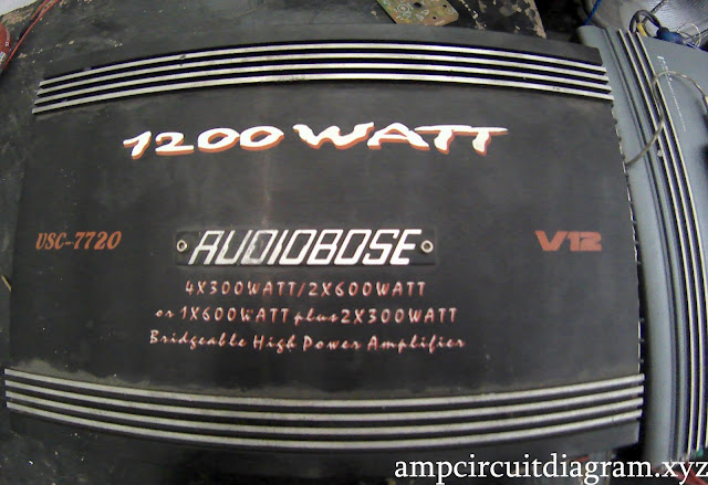 Audiobose car power amplifier