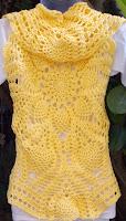 free crochet pineapple bolero pattern