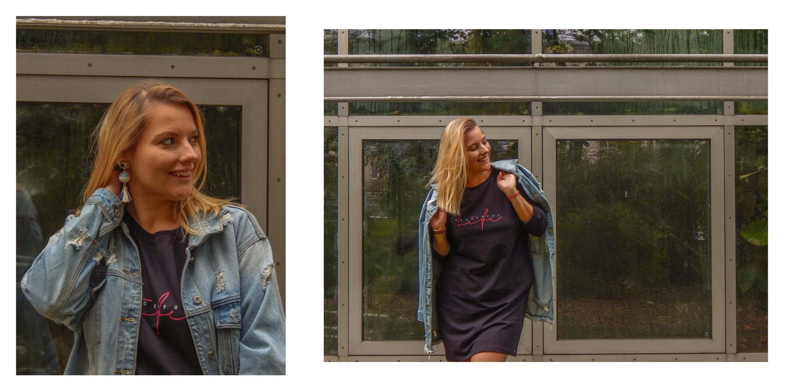 3A jak wybrać kurtkę jeansową najmodniejsze fasony kurtek sukienek płaszczy jak ubierać blondynkę stylizacje short blonde hair hairstyle melody łódź blog lifestyle fashion