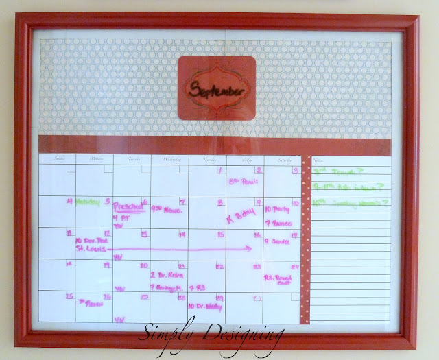 Calendar PB Inspired Command Center: Calendar 5
