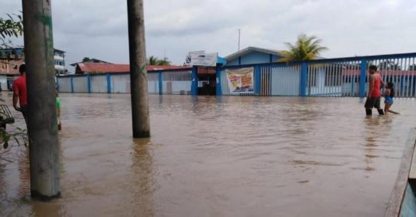 25 colegios de Loreto quedan inundados a pocas semanas de iniciar el Año Escolar 2019
