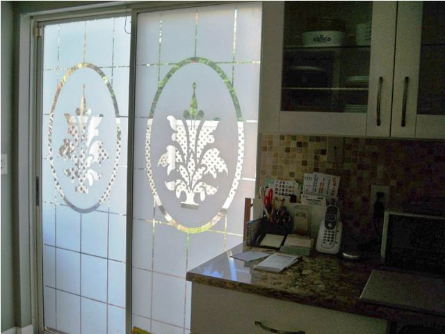 Stained GLASS WINDOW FILM for Sliding Doors