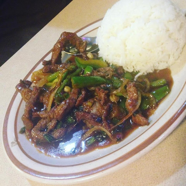 Mongolian beef at Leann's Cafe
