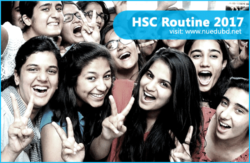 HSC Routine 2017 - Bangladesh All Board
