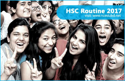 HSC Routine 2017 - Bangladesh All Board