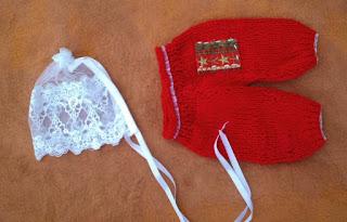 conjunto de calça tricotada e gorro vintage  para fotografias newborn