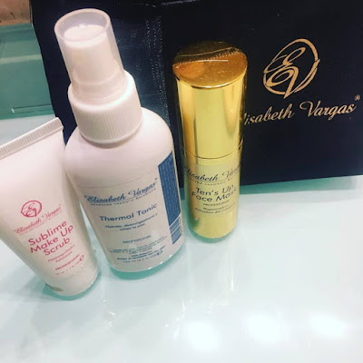 Elisabeth Vargas Cosmetic, Cosmetica premium, productos acabados, Alta cosmética, desmaquilador, exfoliante, sublime make up scrub, tónico, thermal tonic, mascarilla facial, tens up face mask, Sublime serum eyes & lips, contorno de ojos y labios, ikigai cream, crema facial, antiaging,