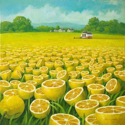 Campo lleno de limones