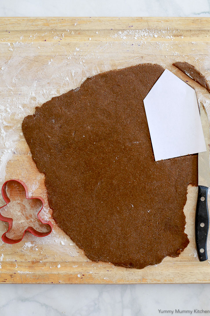 This recipe makes the best gluten free gingerbread cut out cookies! They are vegan and paleo too!