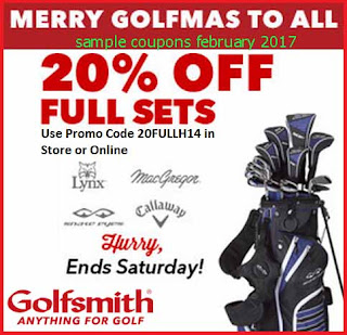 Golfsmith coupons for february 2017