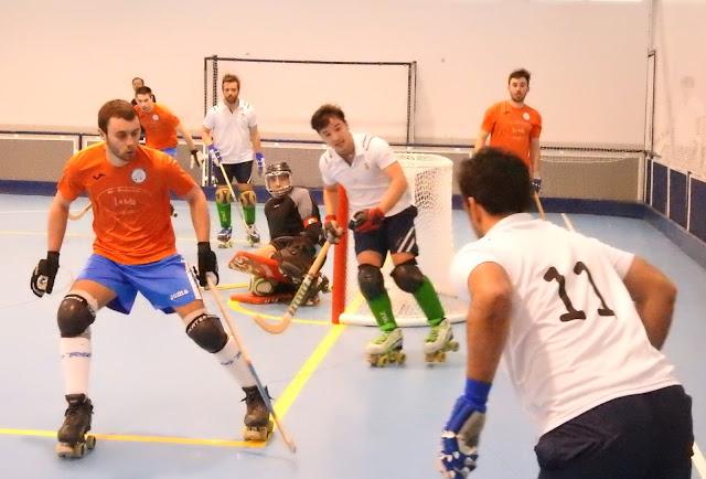 Hockey patines entre el Tenis de Santander y el Gurutzeta