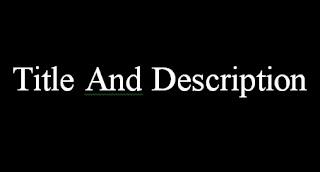 Memindahkan Title Dan Deskripsi Blog Ke Tengah