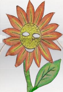 Páscoa máscara de girassol