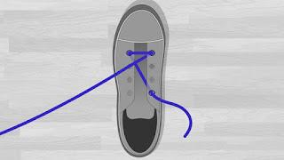 Cara Memasang Tali Sepatu Lurus ke Samping tutorial 2
