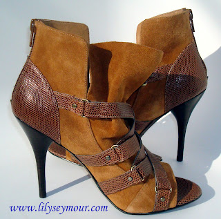 Caramel Swede w/Leather Ankle Boots by Zumi