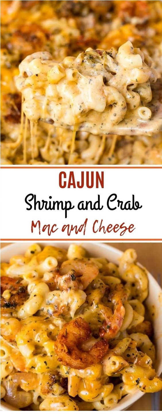 Cajun Shrímp And Crab Mac And Cheese