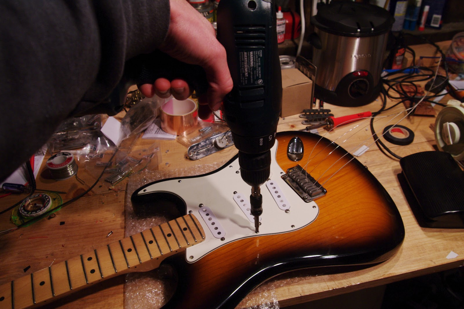 Schuyler Dean Pickups Handmade Guitars And Fat Telecaster Wiring Diagram For Many Players The Strat Has One Good Pickup In Neck Middle Is Simply There To Occasionally Get A Weird Two Parallel Sound Or