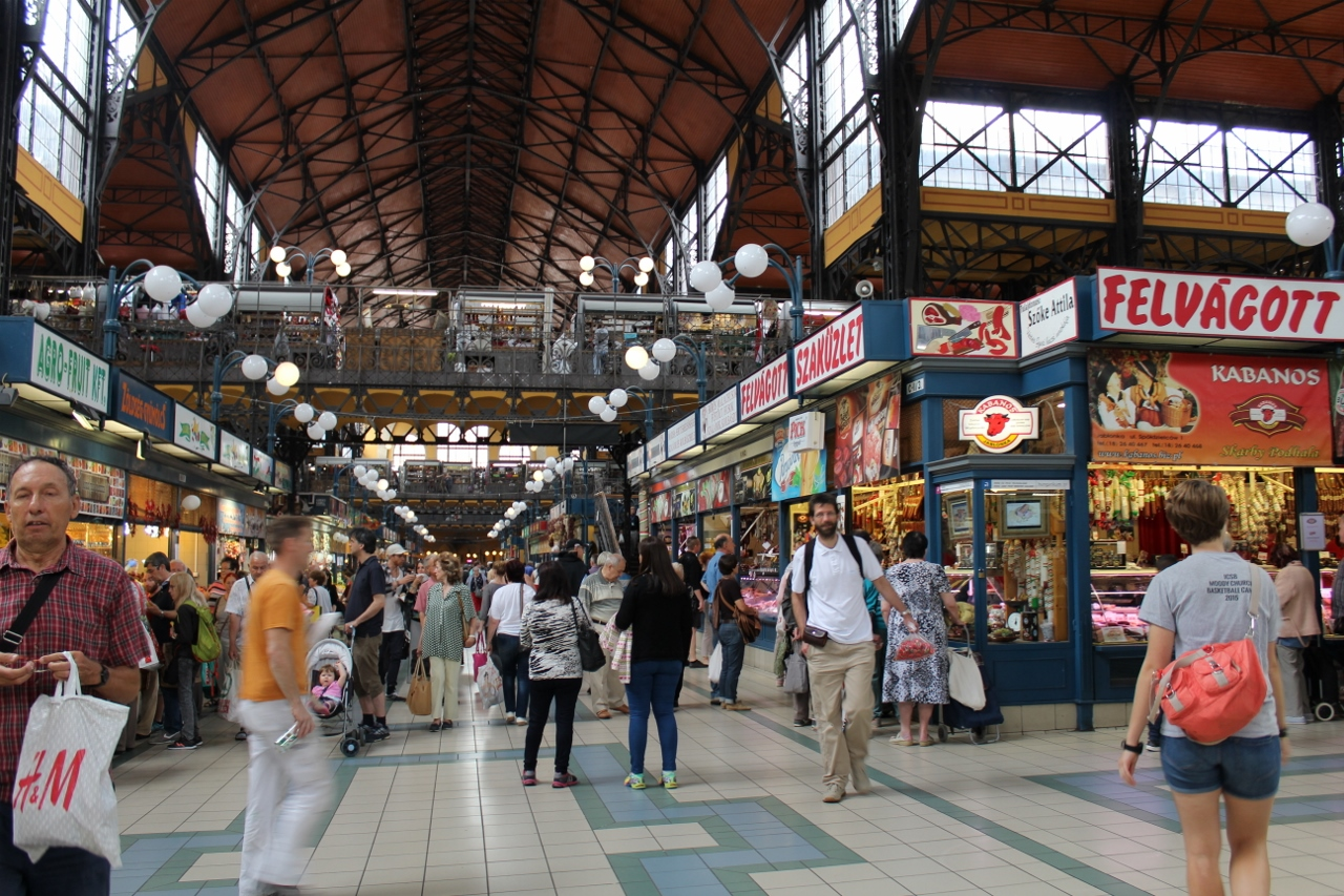 Inside Budapest Central Market Hall