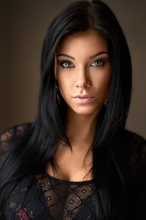 Milan R 500px arte fotografia mulheres modelos beleza fashion Tereza Polášková morena olhos verdes